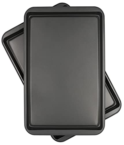 Chef Select Non-Stick Metal Cookie Baking Sheet, 17-Inch by 11-Inch, Set of two