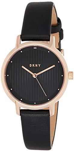 DKNY Damen Analog Quarz Uhr mit Leder Armband NY2641
