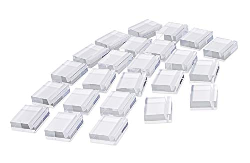 Place Card Holder Set - 24 Pack - Made of Strong Acrylic. Perfect for Wedding Reception, Banquet Table, Table Number, Display Cases, Product Information (24)