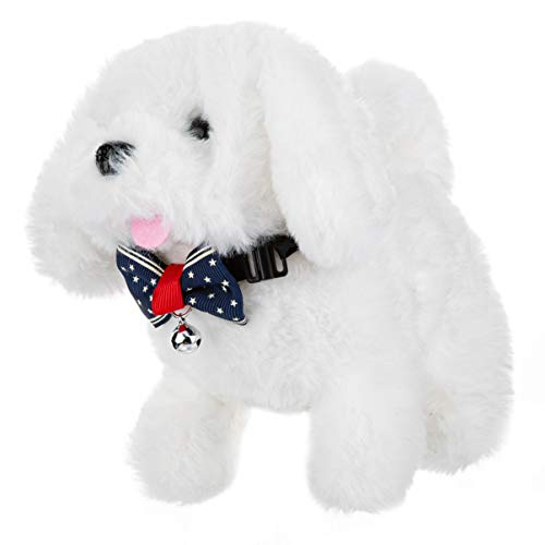 Electronic Dog , Plush Dog Toy, Walking,Barking Dog, Realistic Interactive Dog Toy 7 Inches Gifts for Kids