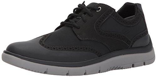 Clarks Tunsil - Zapatos de ala para Hombre, Color Negro, Talla 45 EU