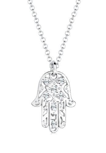 Elli Collares colgate Mano de Fátima cristales en plata de ley 925