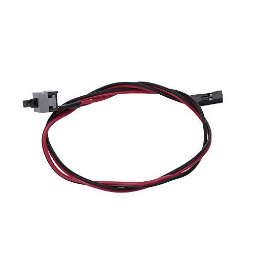 Docooler Cable de alimentación de PC 48 cm 2 Pin SW Cable On/Off/Reset Botón ATX Caja de la computadora de Escritorio Interruptor de la Placa Base Cable