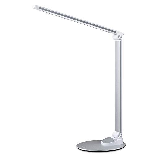 LED Schreibtischlampe Miroco Schreibtischlampen mit 5 Farbmodus und 5 Helligkeitsstufen Augenpflege, USB-Ladeanschluss 5V 1.2A,...