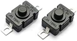 Electronicspices Self Locking Switch, DC 260V 1.5 A Tactile Tact Switch 2Pin On Off Push Button Switch DIY Electronic...