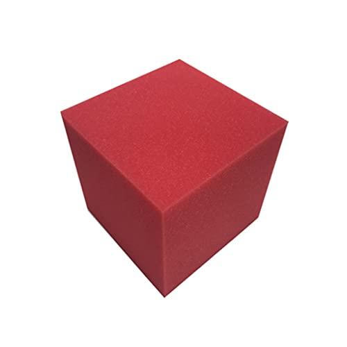 SMEJS 15x15x15cm Cubo de Espuma acústica Aislamiento de Sonido Sala de absorción de algodón Sala de música Tile Panel de Pared Llama Esponja ignífuga (Color : B)