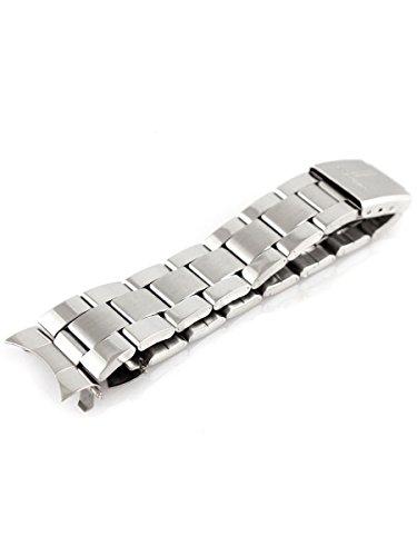 Alienwork IK Cinturino orologio argento Bracciale in Acciaio