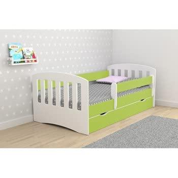 Children's Beds Home Single Bed Classic 1 - para niños Niños Niños pequeños Sin colchón ni cajones incluidos (Verde, 140x80)
