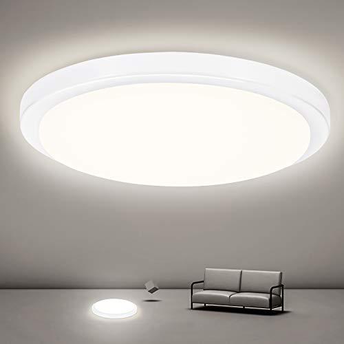 Oraymin LED Deckenleuchte bad, 18W 1800LM LED Deckenlampe, IP54 Wasserfest Badlampe, für Bad Schlafzimmer Küche Balkon Wohnzimmer Flur, Neutralweiß 4000K, Ø25cm