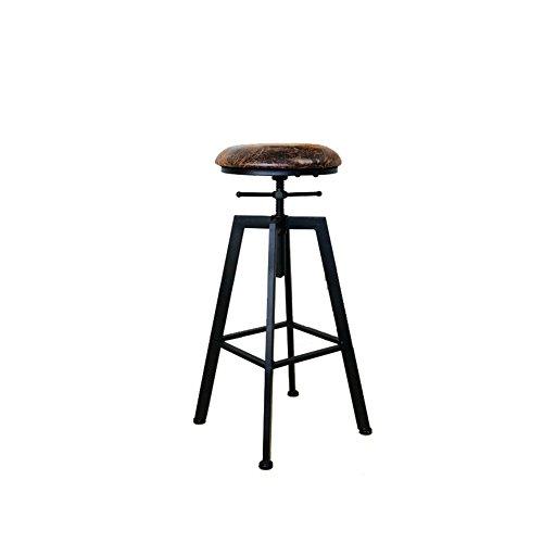 ZHyizi Hoge krukken, Barstoelen, Ergonomie Loft Industriële Europese Amerikaanse Stijl Retro Iron Art Tuinstoelen Huishoudelijke Meubels Luxe Comfortabele Verstelbare Rotary Lift