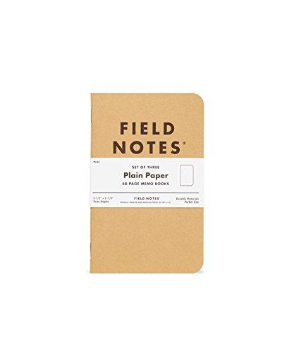Field Notes: Original Kraft 3-Pack - Plain Paper - 48 Pages - 3.5' x 5.5'