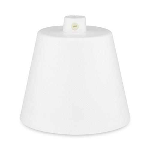 Lampen Baldachin - Deckenbaldachin in Kunststoff weiß - Anschlussabdeckung für Hängelampen