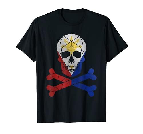 Filipino Shirt Barong Women Barong Tagalog for Women Skull T-Shirt