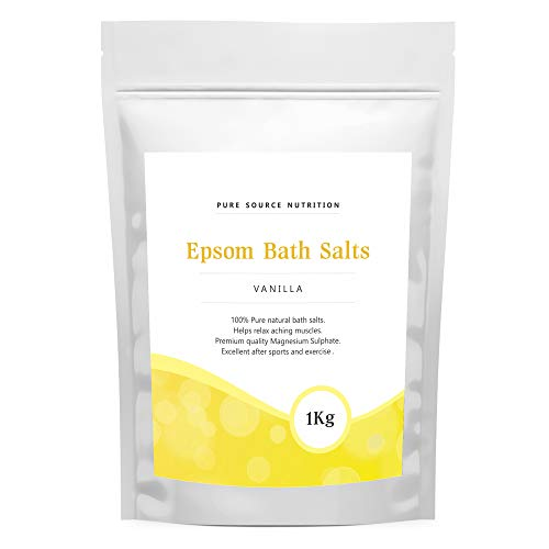 Epsom Salt For Bath 1KG / 1000G Of Pure Magnesium Used For Muscle Recovery And Relaxation 9 Scents Available (Vanilla)