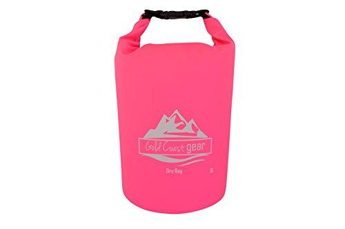 Dry Bag Wasserdichter Sack Mehrere Größen mit Schultergurt (Rosa, 5L)