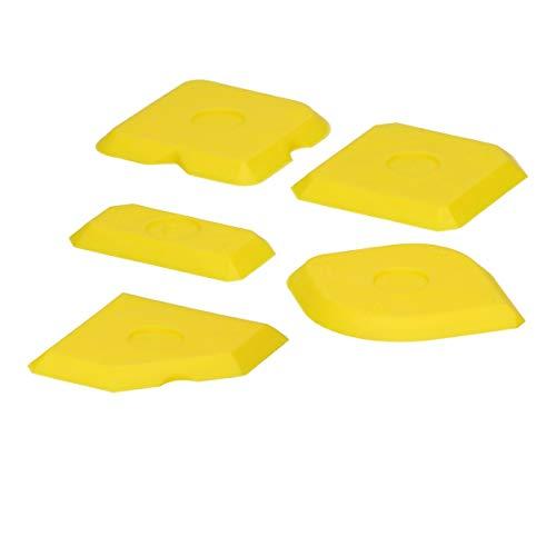 ECD Germany Fugenglätter Set 5-tlg - Fugenabzieher Set für Silikon, Silikonfugen und Acryl - Fugenspachtel Glättspachtel Silikonspachtel Silikonglätter Silikonabzieher Silikon Abzieher Fugenkratzer
