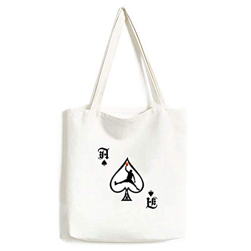 Bolsa de compras Slam Dunk Sports Basquete Corrida Artesanato Poker Spade Canvas Bag