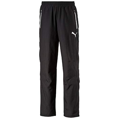 Puma Herren Hose Leisure Pants, black-white, XXL