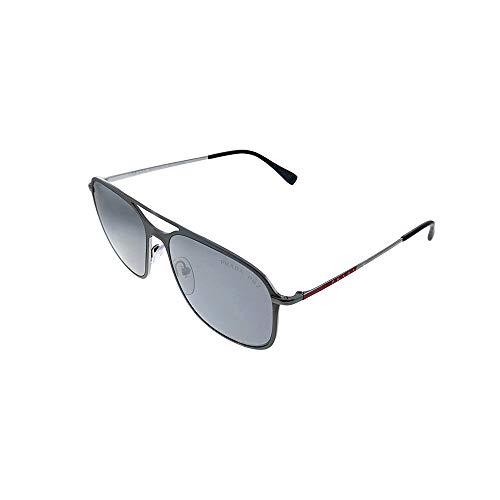 Prada Sport 0ps 53ts Montures de lunettes, Multicolore (Matte Gunmetal/Shiny), 56 Homme