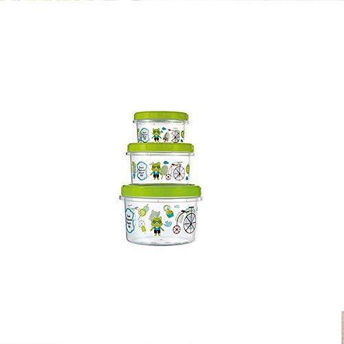 250ML-1L driedelige dop vers-keep-keeping box Verzegelde lek-proof en vocht-opslag doos snack snack snack