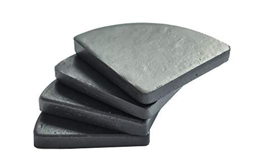 Vivanno 4er Set Untersetzer Unterlegscheiben Kübelfüße für Pflanzkübel Put 7 x 7 cm, Grau