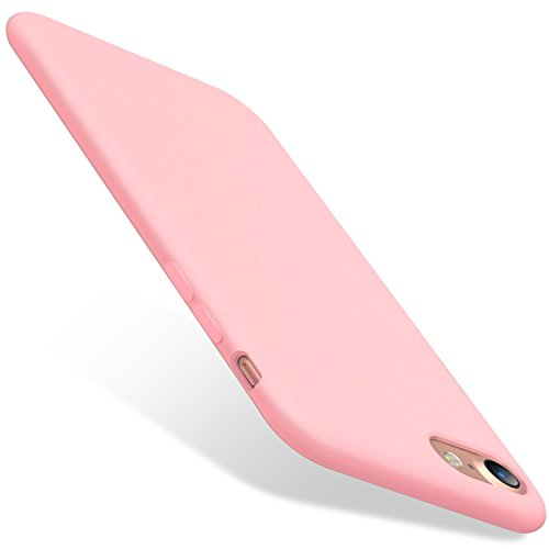 TORRAS [Love Series] iPhone 8 Case/iPhone 7 Case, Liquid Silicone Gel Rubber Case Soft Microfiber Cloth Lining Cushion Compatible with iPhone 8/ iPhone 7, Pink