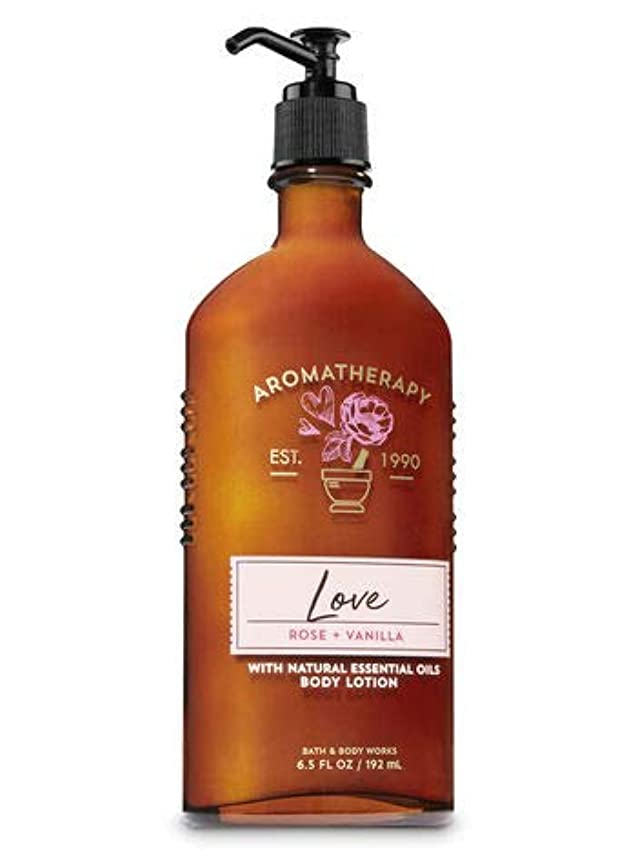 挑む助言するリー【Bath&Body Works/バス&ボディワークス】 ボディローション アロマセラピー ラブ ローズバニラ Body Lotion Aromatherapy Love Rose Vanilla 6.5 fl oz / 192 mL [並行輸入品]