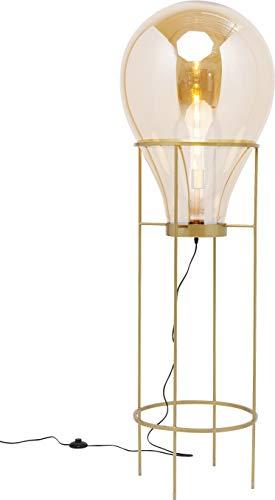 Kare Design Stehleuchte Pear Frame 158cm, außergewöhnliche XXL Stehlampe, Goldene Lampe auf Messinggestell, große Lampe Wohnzimmer, (H/B/T) 158x50x50cm