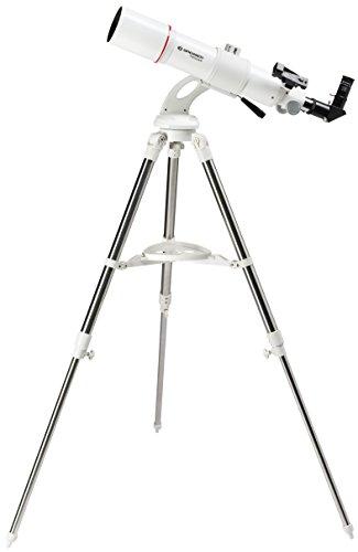 Bresser AR-80/640 Telescopisch messier met messen, Nano lensentelescoop met statief, AZ montage voor eenvoudig gebruik, smartphone-camera adapter en uitgebreide accessoires voor beginners, wit