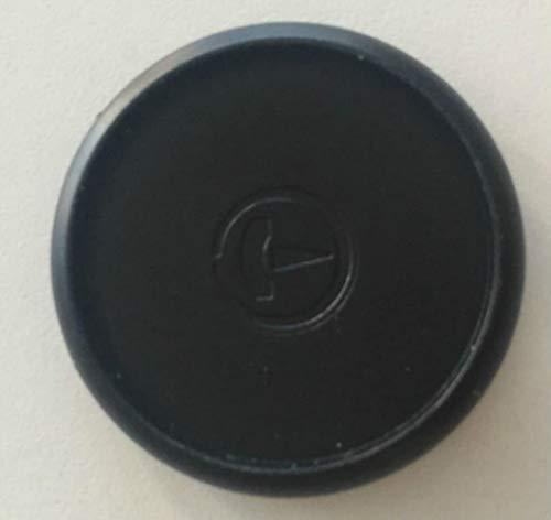 Heng 10st Notebook Paddestoelgatknop Notepad Plastic Losbladige spoelgraad Opvouwbare plastic schijfgesp Zwarte ring, 24 mm