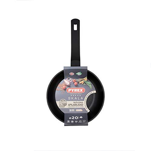 Pyrex SKALA Cast Aluminum Frying pan, 20 cm, Total Induction, Non-Stick, Soft Touch Handle, Aluminium