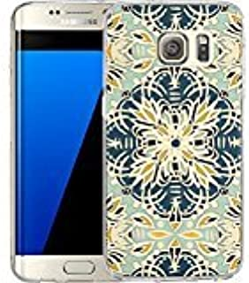 S7 Edge Case Gallery Art Printing Whimsical Flowers Folk Kaleidoscope , LAACO Scratch Resistant TPU Gel Rubber Soft Skin Silicone Protective Case Cover for Samsung Galaxy S7 Edge