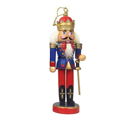 Simplelife Notenkraker Soldaat Houten Pop Vintage Handcraft Puppet Nieuwjaar Kerst Ornamenten Gift Decoratie