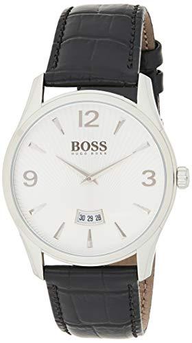 Hugo BOSS- Reloj análogico de cuarzo con correa de cuero para hombre - 1513449