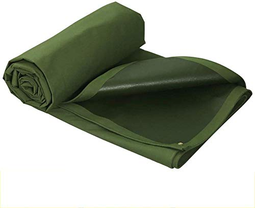 Green Tarpaulin Waterproof PVC Coated Cloth Tarpaulin For Sun and Rain Anti-oxidation Tear Resistance-3m×6m