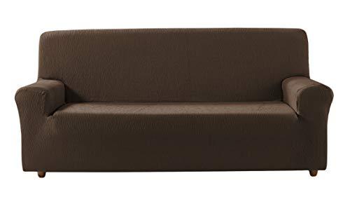 Saymi Beta Funda de sofá elástica, Tela, Chocolate, 4 Plazas