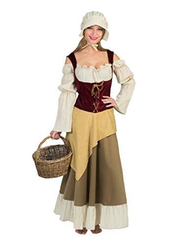 Mittelalter Bäuerin Kostüm für Damen - Gr. 52 54