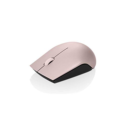 Lenovo 520 Wireless Mouse, Ambidextrous Design, Nano USB Connection, Compatible with Windows Laptops and PCs – Sand Pink