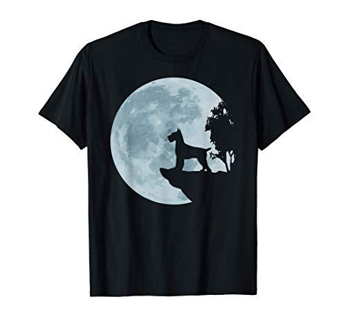 Schnauzer Gigante Perro Luna llena Gran Regalo Amigo Perro Camiseta