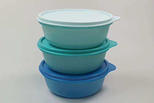Tupperware Kühlschrank Hit-Parade 600 ml blau+helles+Dunkles türkis Dose 37924