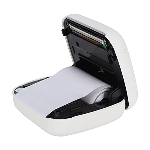 Mini Impresora, Mini Impresora Bluetooth Impresora de Ejercicios incorrectos para Estudiantes Dispositivos de impresión de fotografías Bluetooth para Estudiantes Impresión de fotografías de(White)