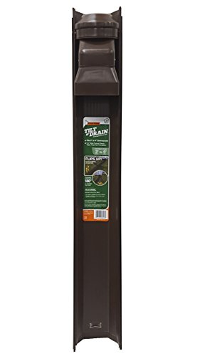 Frost King GWS3B Tilt N' Drain Downspout Extender, 3'. Long, Extends To 6'.,,, Brown
