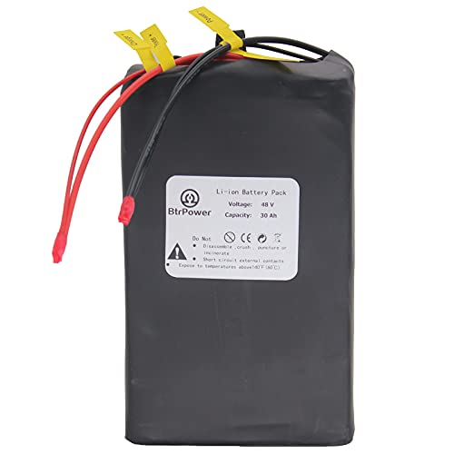 Ebike Battery 48V 10AH 18AH 20AH 30AH 50AH Lithium Ion / LiFePO4 Battery Pack with 5A Charger,50A BMS for 300W-3000W Motor