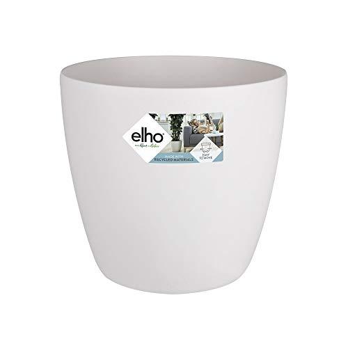 Elho Brussels Round Wheels Maceta Redonda con Ruedas, Blanco, 47x47x43 cm
