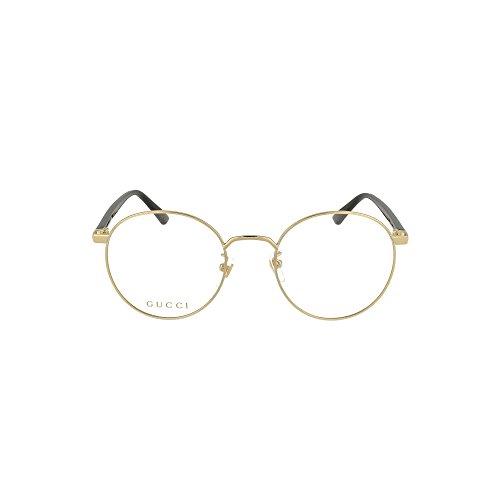 Gucci Unisex – Erwachsene GG0297OK-001-52 Brillengestell, Gold-Schwarz, 52