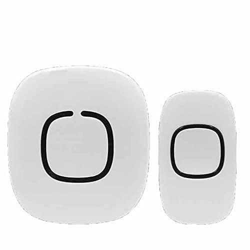 JiaHang Timbre Inalámbrico para Puerta sin Baterías, Timbre Impermeable con LED Flash Timbre Inalámbrico Exterior Impermeable con Alcance a 100m, 3 Niveles de Volumen, 30 Melodías