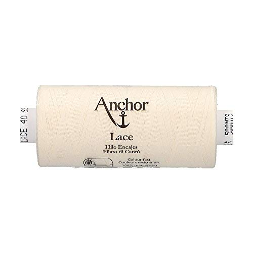 301 3,6cm x 3,6cm x 7,2cm Anchor Lace 40 Fil /à Dentelle 900 m Coton