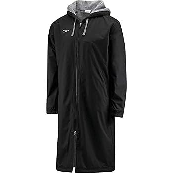 Speedo Unisex-Adult Parka Jacket Fleece Lined Team Colors,Speedo Black,Small