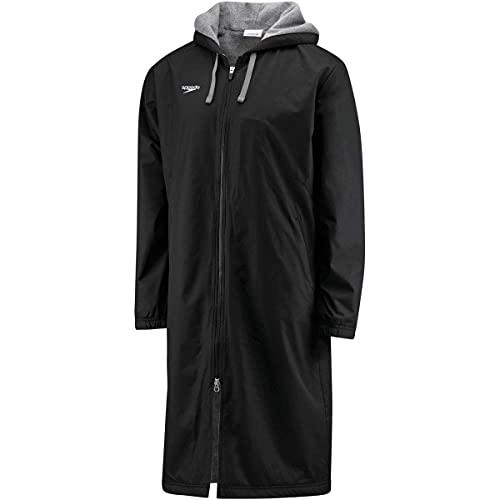 Speedo Unisex-Adult Parka Jacket Fleece Lined Team Colors,Speedo Black,Medium