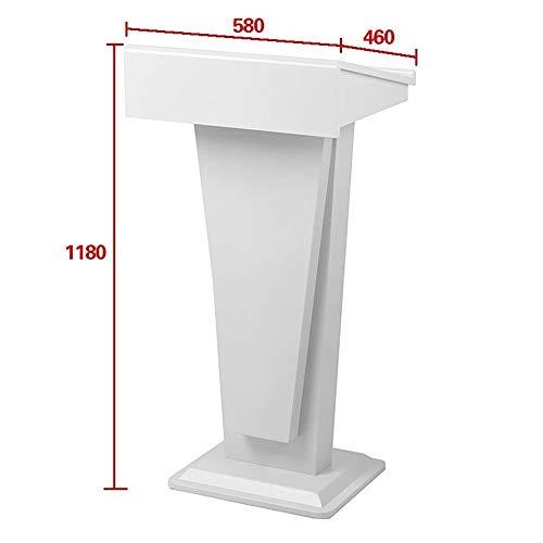 DLSMB Podium Sprechen Schreibtisch Empfang Tisch Lehrer Massivholz Einfache Podium for Kirche, Schule oder Universität Rednerpult (Color : White, Size : One Size)